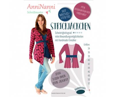 Strickjäckchen von AnniNanni - Papierschnittmuster -