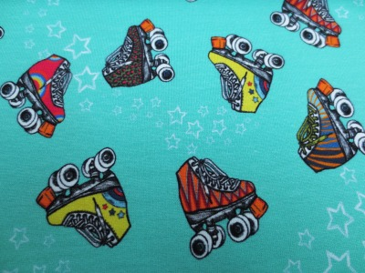 French Terry Rollschuhe Retro Skates Lila-Lotta