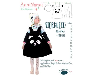 Tierkleid von AnniNanni Papierschnittmuster plus Leggings