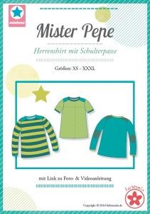 Papierschnittmuster Mister Pepe Herrenshirt
