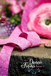 Webband Blume rosa Donna Fiona beere