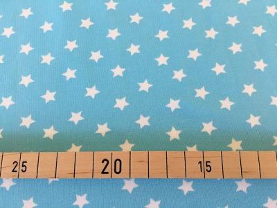 Jersey Sterne hellblau/weiß
