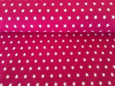 Jersey Sterne pink/weiß