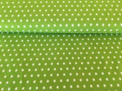 Jersey Sterne apfelgrün/weiß