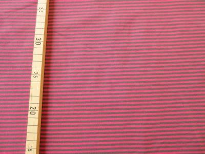 Jersey Ringel pink/dunkelgrau