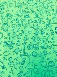 Jersey Kinderzeichnung hellgrün