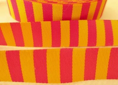 Webband Ringel - gelb - pink