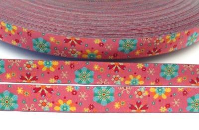 Webband Mandala Blume rosa