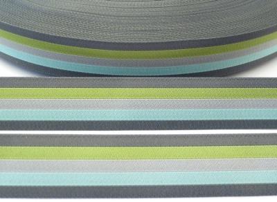Webband Streifen - grau