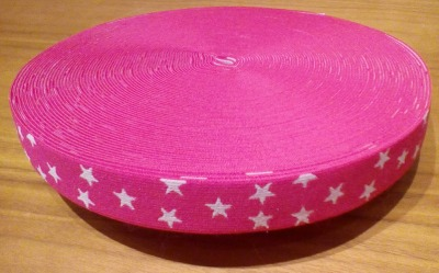 Gummiband Sterne rosa
