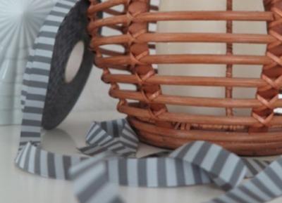 Webband Ringel grau - anthrazit