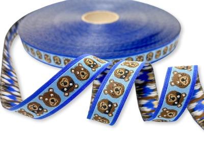Webband Bär - Helmut - blau