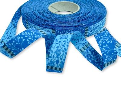 Webband Rosen - blau - Blaubeerstern
