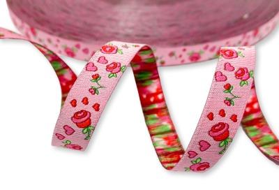 Webband Rosen rosa Kleiner Himmel Design