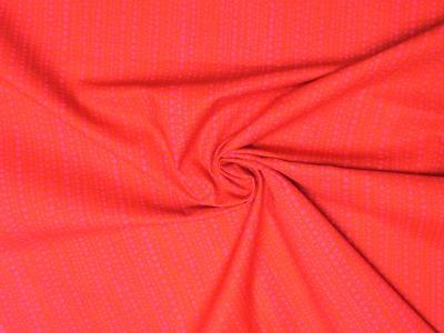 Baumwollstoff Punkte rosa Punkte auf rot