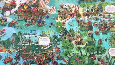 Jersey Piraten - Wimmelbild - Ali