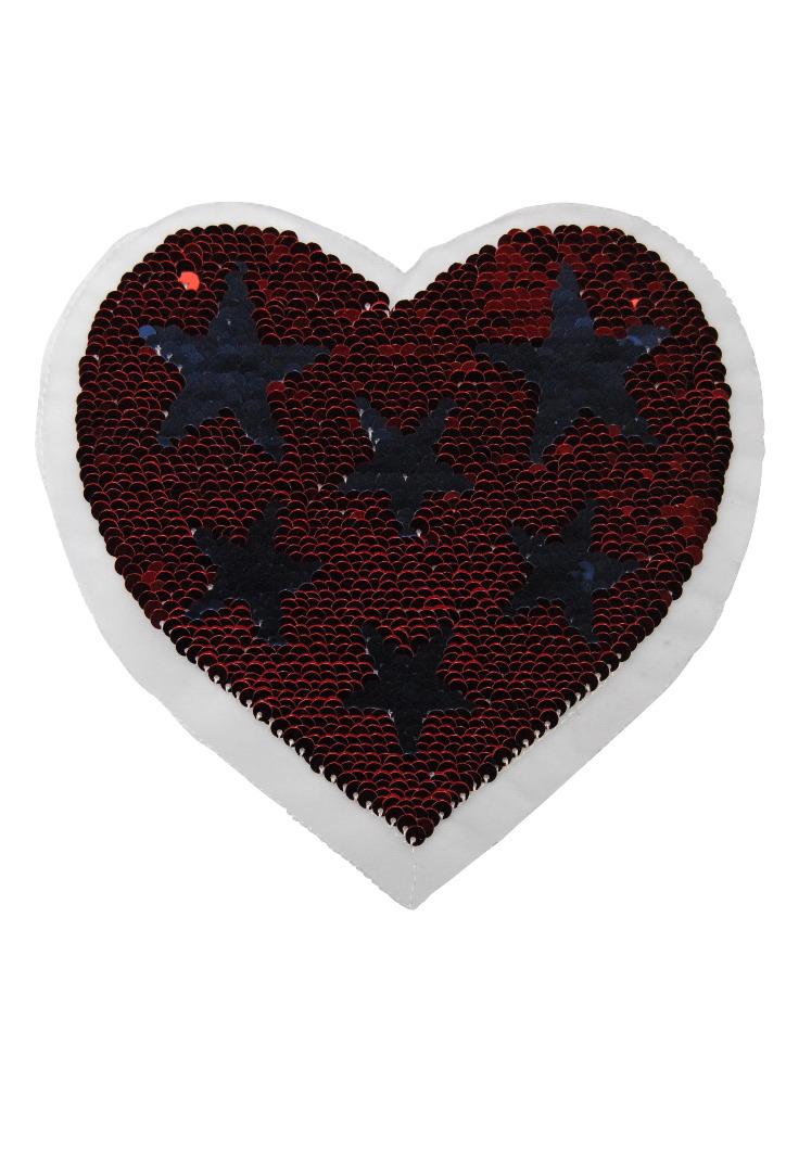 Herz rot/ blau und pastell/berry zum aufnähen - 1