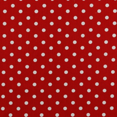 04949004 Baumwolle Stoff Punkte Dots rot