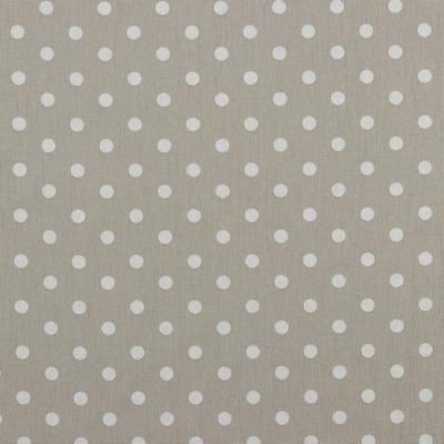04949022 Baumwolle Stoff Punkte Dots sand/weiss