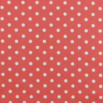 04949024 Baumwolle Stoff Punkte Dots coral