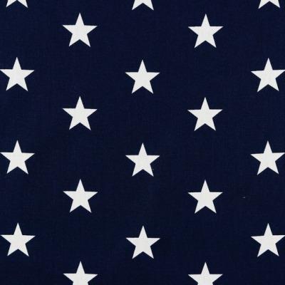 04954002 Baumwolle Stoff Sterne Stars dunkelblau