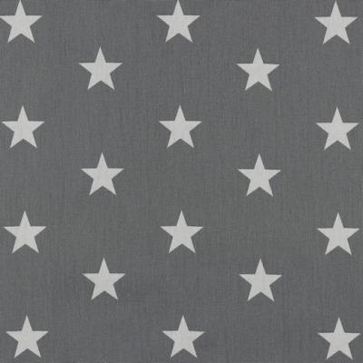 04954013 Baumwolle Stoff Sterne Stars grau