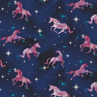 07799001 Jersey Stretch Einhorn Unicorn Digital