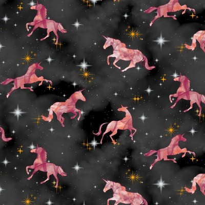 07799002 Jersey Stretch Einhorn Unicorn Digital