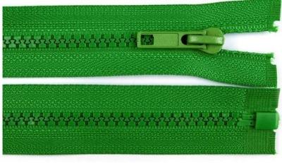 20255 Reißverschluss grün 70cm teilbar für Jacken