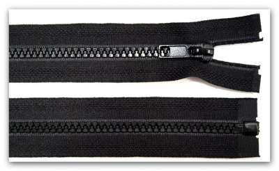 20212 Reißverschluss 55cm schwarz teilbar