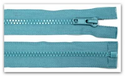 20408 Reißverschluss türkis 45cm teilbar für Jacken
