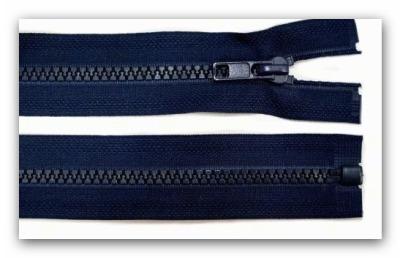 20244 Reißverschluss dunkelblau 65cm teilbar für Jacken