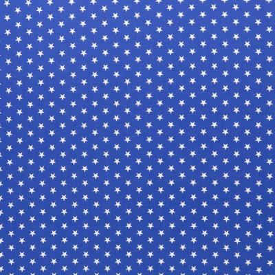 343735160039 Baumwolle Stoff Sterne Stars royalblau