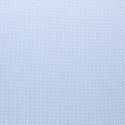 344273080018 Baumwolle Stoff Punkte Dots hellblau/weiss