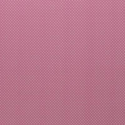 344434560021 Baumwolle Stoff Punkte Dots altrosaweiss