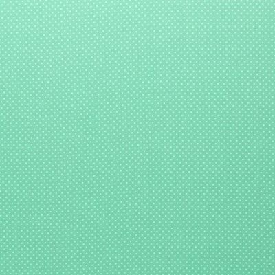 344535900023 Baumwolle Stoff Punkte Dots mint