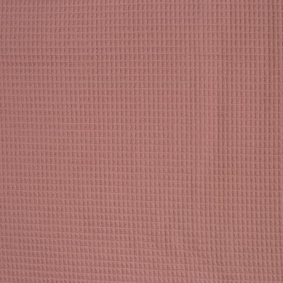 344560490056 Waffelpique Stoff Baumwolle altrosa weich