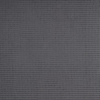 344689490050 Waffelpique Stoff Baumwolle grau dunkelgrau