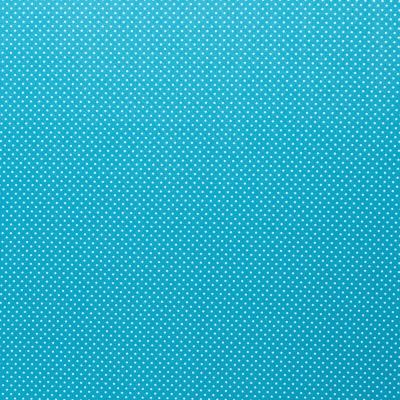 344748060026 türkis Baumwolle Stoff weiße Punkte