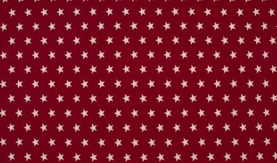 50282 Baumwolle Stoff Sterne Stars dunkelrot