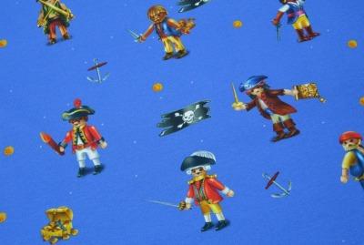 6018 Jersey Stretch Playmobil Pirat Seemann Skull royalblau