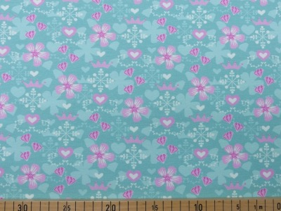 60868 Jersey Stretch Flower Krone zartes hellblau