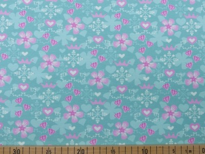 60868 Jersey Stretch Flower Krone zartes