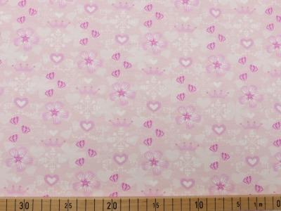 60869 Jersey Stretch Flower Krone zartes rosa