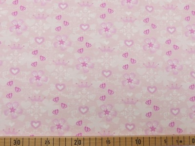 60869 Jersey Stretch Flower Krone zartes