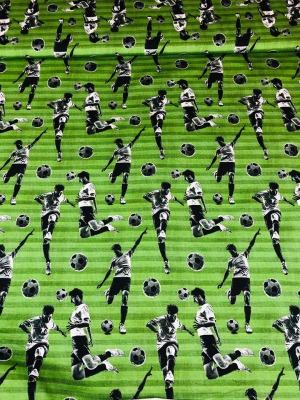 60921 Jersey Stretch Fussball Streifen Ringel grün