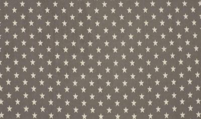 61120 Jersey Baumwolljersey Stretch Sterne Stars taupe grau weiß