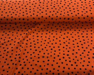 61248 Jersey Stretch Punkte Dots terracotta