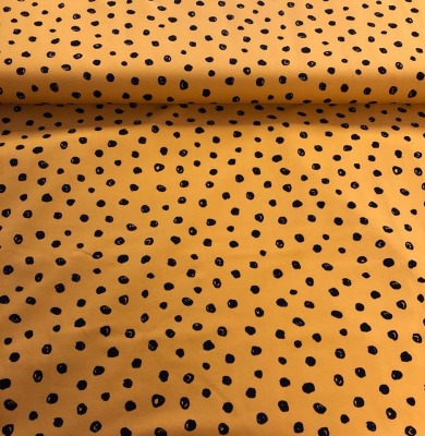 61249 Jersey Stretch Punkte Dots senf