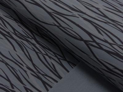 70434 Sweat angerauht Wire grau/schwarz Petra Laitner